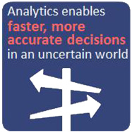 Analytics enables faster, more accurate decisions in an uncertain world